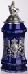 German Lord of Crystal Bavaria Blue Beer Stein by KING-WORKS Wuerfel & Mueller GmbH and Co. in Hoehr-Grenzhausen