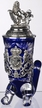 German Lord of Crystal Bavaria, Blue Horn Beer Stein by KING-WORKS Wuerfel & Mueller GmbH and Co. in Hoehr-Grenzhausen