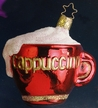 Cappuccino Cup Ornament by Inge Glas