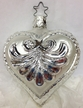 Silver Heart Ornament by Inge Glas