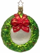 Holiday Sentiments Wreath Ornament by Inge Glas