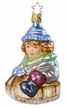 Snow Fun, Girl on Sled - Life Touch Ornament by Inge Glas