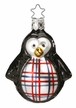 Plaid Penguin Ornament by Inge Glas