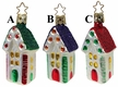 Three Story House Ornament by Inge Glas - $14.50 Each