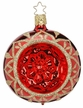 "3 1/4"" Blossom Reflect Red Shiny Ornament by Inge Glas in Neustadt by Coburg"
