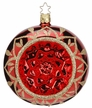 "4"" Blossom Reflect Red Shiny Ornament by Inge Glas in Neustadt by Coburg"