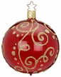 "4"" Milan, Red Shiny Transparent Ornament by Inge Glas in Neustadt by Coburg"