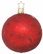 "3 1/4"" Red Matte Delights Ornament by Inge Glas in Neustadt by Coburg"