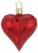 Red Matte Delights Heart Ornament by Inge Glas in Neustadt by Coburg
