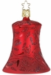 Red Matte Delights Bell Ornament by Inge Glas in Neustadt by Coburg