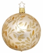 "3 1/4"" Champagne Matte Delights Ornament by Inge Glas in Neustadt by Coburg"