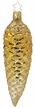 Golden Fir Cone Ornament by Inge Glas in Neustadt by Coburg