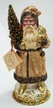 Champagne Coated Santa Paper Mache Candy Container by Ino Schaller