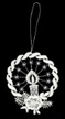 Lace Candle with Braided Frame Ornament by Stickservice Patrick Vogel in OT Hammerbrücke