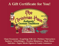 $100 Gift Certificate to The Christmas Haus