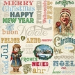 Vintage Christmas Luncheon Size Paper Napkins by Made by Paper + Design GmbH