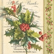 Christmas Holly Luncheon Size Paper Napkins by Made by Paper + Design GmbH
