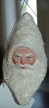 One of Kind White Santa Head Paper Mache Ornament by Werner Brauer in Hannover