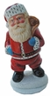 Santa, Red with Ermine Edge Paper Mache Candy Container by Ino Schaller