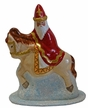St. Nicholas on Horse Paper Mache Candy Container by Ino Schaller