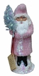 Santa, Rose Beaded Coat Paper Mache Candy Container by Ino Schaller