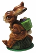 Bunny, New with Basket & Eggs Paper Mache Candy Container by Ino Schaller