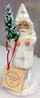 White with Silver Stars Santa Paper Mache Candy Container by Ino Schaller