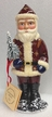 Old Red Coat Santa with Tree Paper Mache Candy Container by Ino Schaller