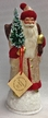 Santa in Ice Gold Coat with Red Trim Paper Mache Candy Container by Ino Schaller