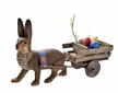 Rabbit with Easter Cart Paper Mache Candy Container by Marolin
