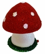 Mushroom, Red Beaded Paper Mache Candy Container by Ino Schaller