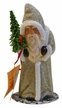 Santa Old, Silver Coat Paper Mache Candy Container by Ino Schaller