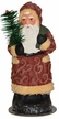 Santa with Feather Tree, One of a Kind Paper Mache Candy Container by Ino Schaller
