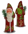 Gingerbread Decorated Santa, One of a Kind Paper Mache Candy Container by Ino Schaller