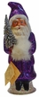 Bright Purple Santa, One of a Kind Paper Mache Candy Container by Ino Schaller