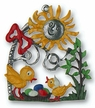 Sun & Chicks Pewter Ornament by K�HN