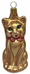 Brown Cat Ornament by Hausd�rfer Glas