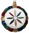 Multi Colored Glittered Disk Ornament by Hausd�rfer Glas Manufaktur