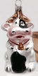Cow Ornament by Hausd�rfer Glas Manufaktur