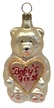 Baby Teddy, Champagne & Pink, Baby's First Ornament by Hausdörfer Glas Manufaktur