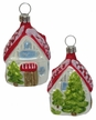 Cottage with Red Roof Ornament by Hausdörfer Glas Manufaktur