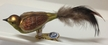 Small Wide Green & Brown Bird Ornament by Glas-Bartholmes