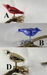 Mini Bird with Feather Tail Ornament by Glas-Bartholmes - $8.00 Each