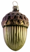 Green and Brown Acorn Ornament by Glas-Bartholmes