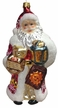 Big Santa with Book, Lantern & Teddy Ornament by Glas-Bartholmes