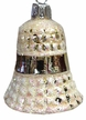Gold Waffled Bell Ornament by Glas-Bartholmes