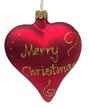 """Red """"Merry Christmas"""" Heart Ornament by Glas-Bartholmes"""