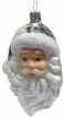 Santa Head with Beard and Silver Hat Ornament by Glas-Bartholmes