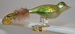 Small Olive Green Bird with Feather Tail Ornament by Glas-Bartholmes