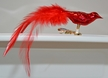 Opal Red Mini Bird with Feather Tail Ornament by Glas-Bartholmes